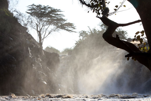 Der Awash-Wasserfall.