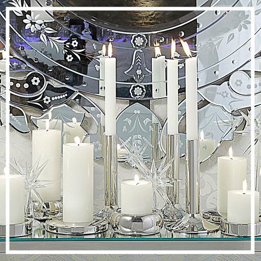 Kerzenständer aus Edelstahl von Engels Kerzen - Geschenkideen und Dekorationsideen
