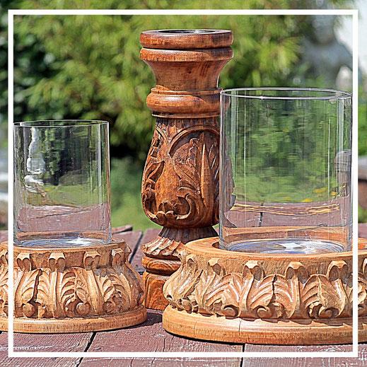 Kerzenständer aus Holz - Geschenkideen - Dekorationsideen - Einrichtungsideen