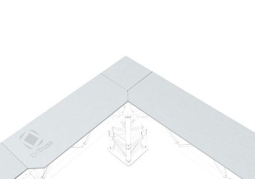 OnTruss EventBoard Corner C90A - Eck-Verbindung mit Corner C90A ohne senkrechter Traverse