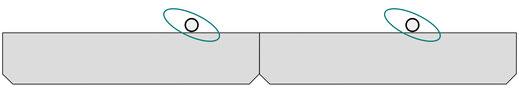 OnTruss EventBoard - Eine senkrechtes Rohr lässt sich mit einer Doppelschelle an jeder Stelle an der Vorderkante befestigen.