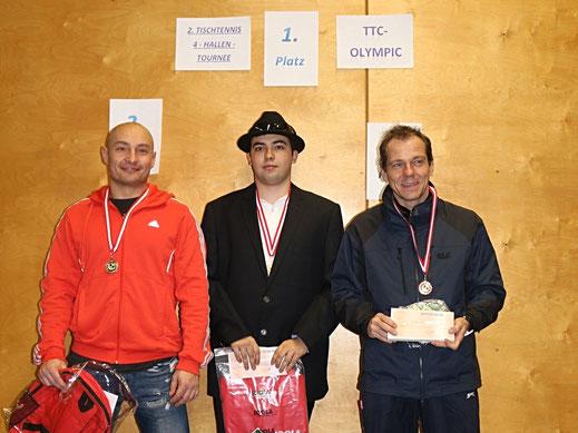 Foto der Gesamtsieger der 4-Hallen-Tournee 2016/2017 im Bewerb bis 1900RC