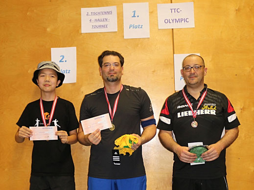 Foto der Gesamtsieger der 4-Hallen-Tournee 2016/2017 im Bewerb bis 900RC