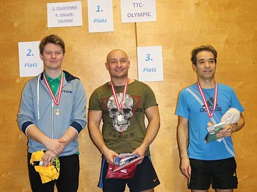 Foto der Gesamtsieger der 4-Hallen-Tournee 2016/2017 im Bewerb bis 1600RC