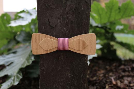 Noeud papillon double en bois, noeud pap en bois mélange des matières bois alu accessoire insolite