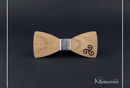 Noeud pap bois accessoire wedding pour mariage bretagne breton