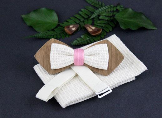 Noeud papillon bois tissu, noeud papillon bois vintage, noeud papillon bois pas cher, noeud pap en bois