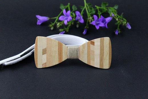Noeud papillon en bois pour femme chic