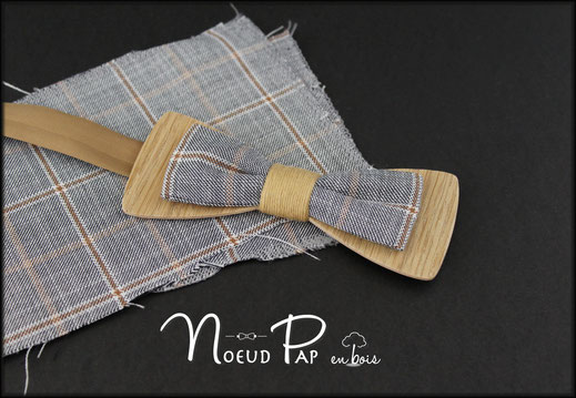 Noeud-pap-bois-tissu-vintage-vichy-rouge-mariage-personnalisable