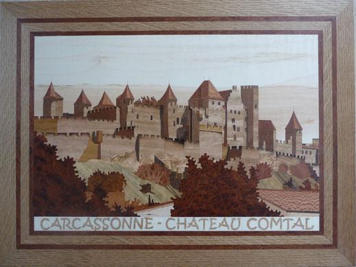Tableau carcassonne en bois