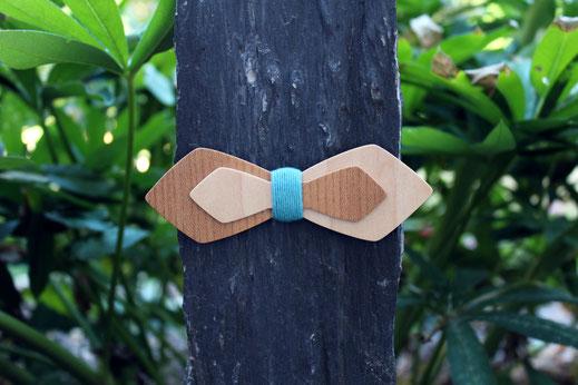 Noeud papillon en bois pas cher unique, noeud papillon double en bois, noeud pap double, noeud papillon asymétrique en bois