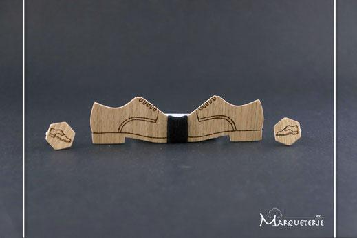 Noeud papillon saxo, noeud papillon bois musique, noeud papillon clé de sol