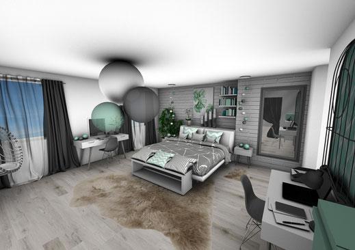 Appartement Green - Crhome-design - Architecture d\'intérieur par ...