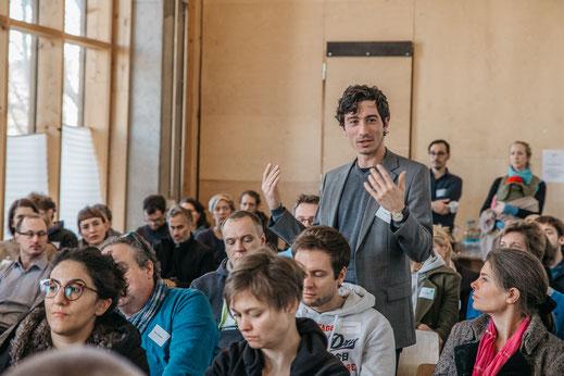 Eventfotografie neuland21 Berlin Eventlocation an der Spree Publikumsdiskussion Veranstaltungs Fotografie Dokumentation