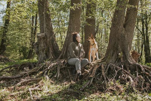 Hundefotografie Erpetal Berlin Brandenburg Frau ein Hunde natürliche Portraits mit Haustier Hundefotos