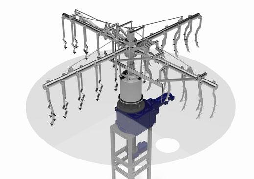 raking machine spent grains removal lauter tun lautering Speedcon