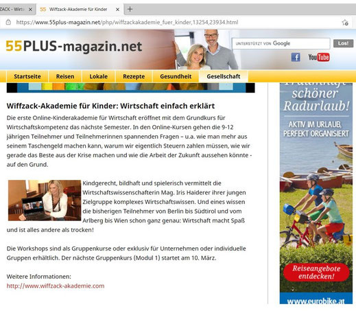 """55PLUS-magazin.net"", März 2021"