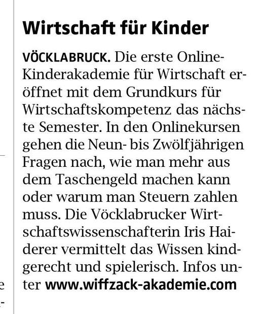 Oberösterreichische Nachrichten, 1. März 2021