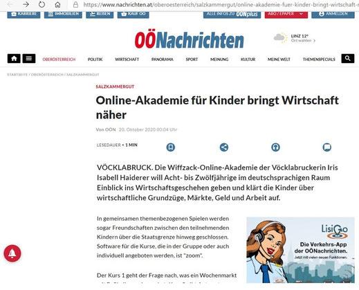 """""""OÖN Online"""", 20.10.2020"""