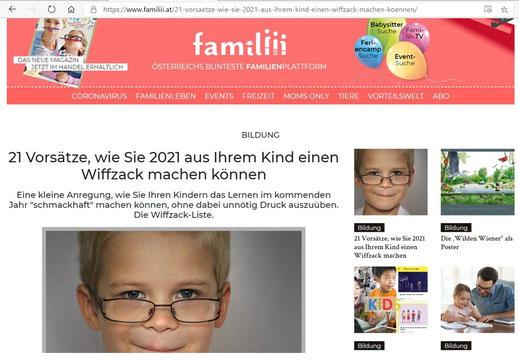 www.familiii.at, Dezember 2020