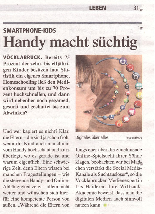 #Handysucht, #Onlinesucht #Medienbildung #Smartphone-Kids #Medienkompetenz #Wiffzack #IrisHaiderer