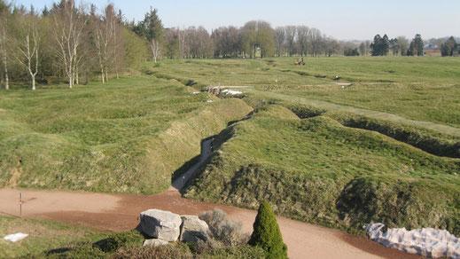 Les champs de bataille de la Somme et l'Historial de Péronne