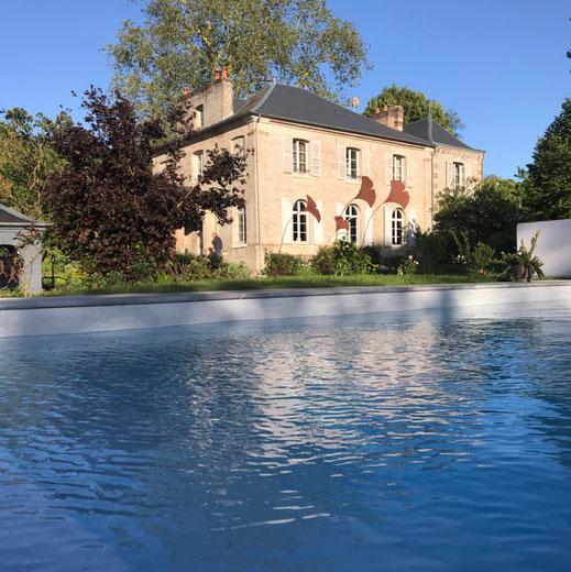 Piscine - Gîte et chambres d'hôtes  Manoir de Chaussoy  - baie de somme -- Somme - Picardie