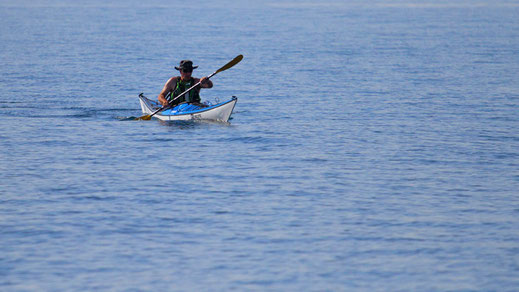 Promenade en bateau en kayak de mer ou en pirogue