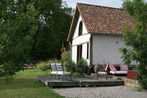 Terrasse du gîte du Manoir de Chaussoy - Baie de Somme - Picardie