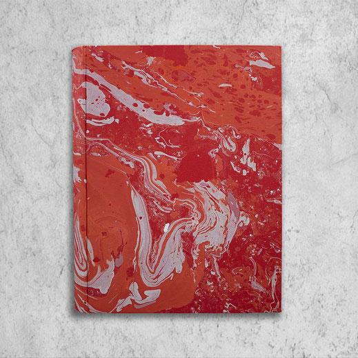 Marbled paper Amanda photo album, coral standard
