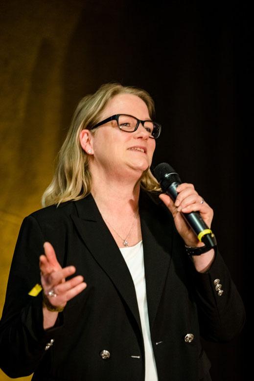 Anika Schön während des Silent Speaker Battle in München im Januar 2020.
