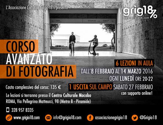 Corso di Fotografia Avanzato a Roma