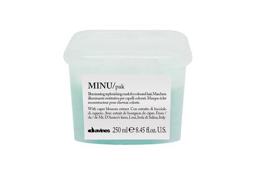 Davines MINU/ HAIR MASK leuchtkraftstärkend schützend Haarmaske coloriertes Haar