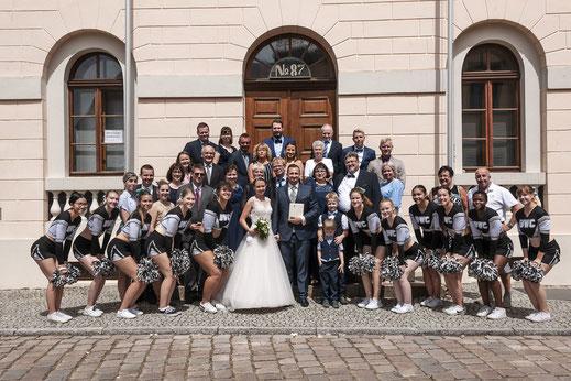 Hochzeitsfotos, Hochzeitsfotograf, Gruppenfotos, Heiraten, Brautpaar, Zerina Kaps