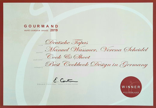 Gourmand World Cookboo Awards Best Design Book