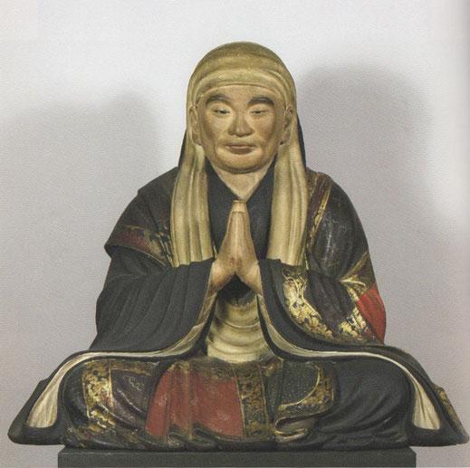 木造念海坐像 寛文11年(1671) 仏師長五郎作