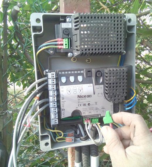 armoire électronique de commande de motorisation de portail