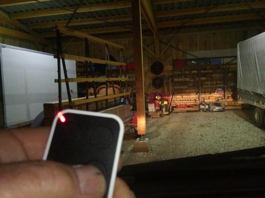 Installation d'un éclairage radio-commandé par C-automatique
