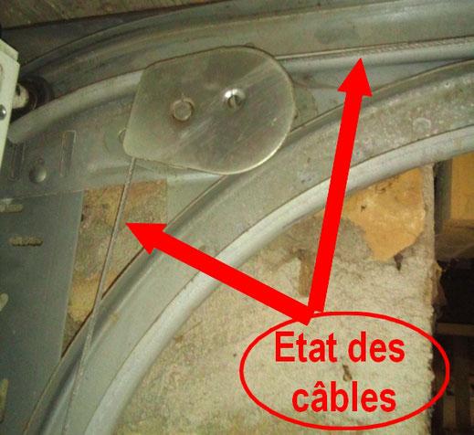 Câble de translation de porte sectionnelle