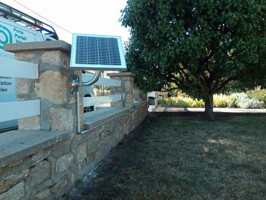 Alimentation solaire pour automatisme de portail