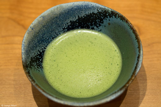 Matcha with a tea bowl