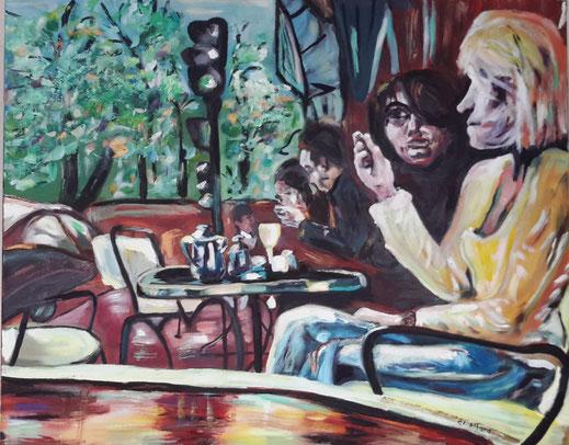 Vive la liberté, peinture à l'huile