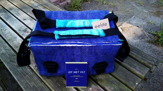 felt; bag; eelste; purple; felting; wool; water resistant; original; unique; handmade