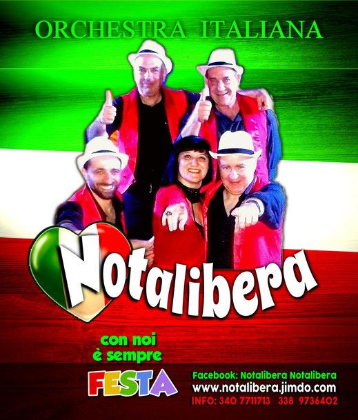 Notalibera,Orachestra Italiana,musica italiana,