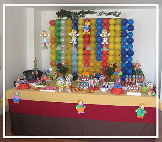 kinderfeest, circus themafeest, sweettable, tafeldecoratie, feestidee