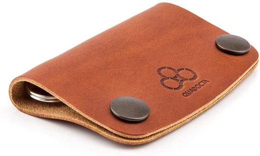 Schlüssel Mäppchen aus feinstem Leder in Braun
