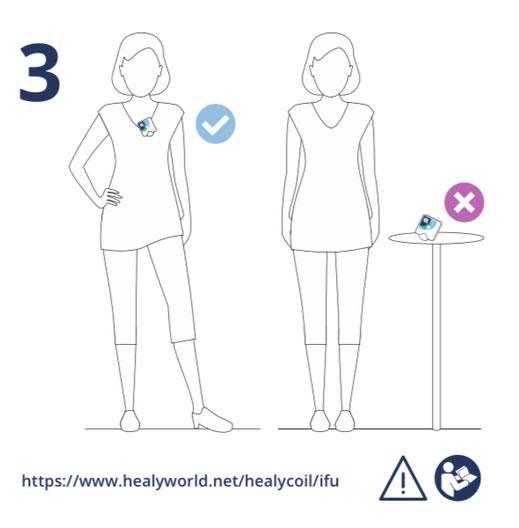 Healy Coil: einfache Benutzung, Tragen am Körper