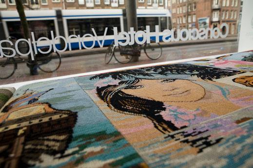 Ausblick aus der Lobby im Conscious Hotel Amsterdam am Vondelpark