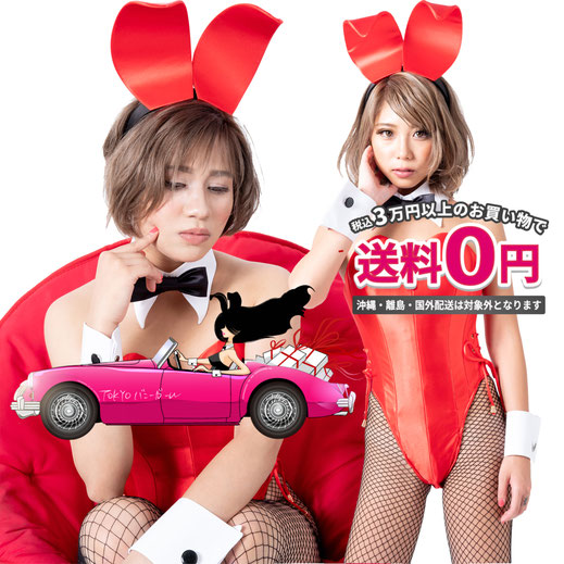 バニー衣装 レッド コスプレ バニーガール 大きいサイズバニー TOKYOバニーガール 衣装 男性用バニーガール衣装 着ぐるみバニー
