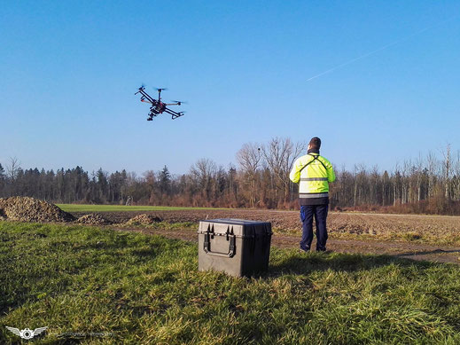 Start des S900 Hexacopter